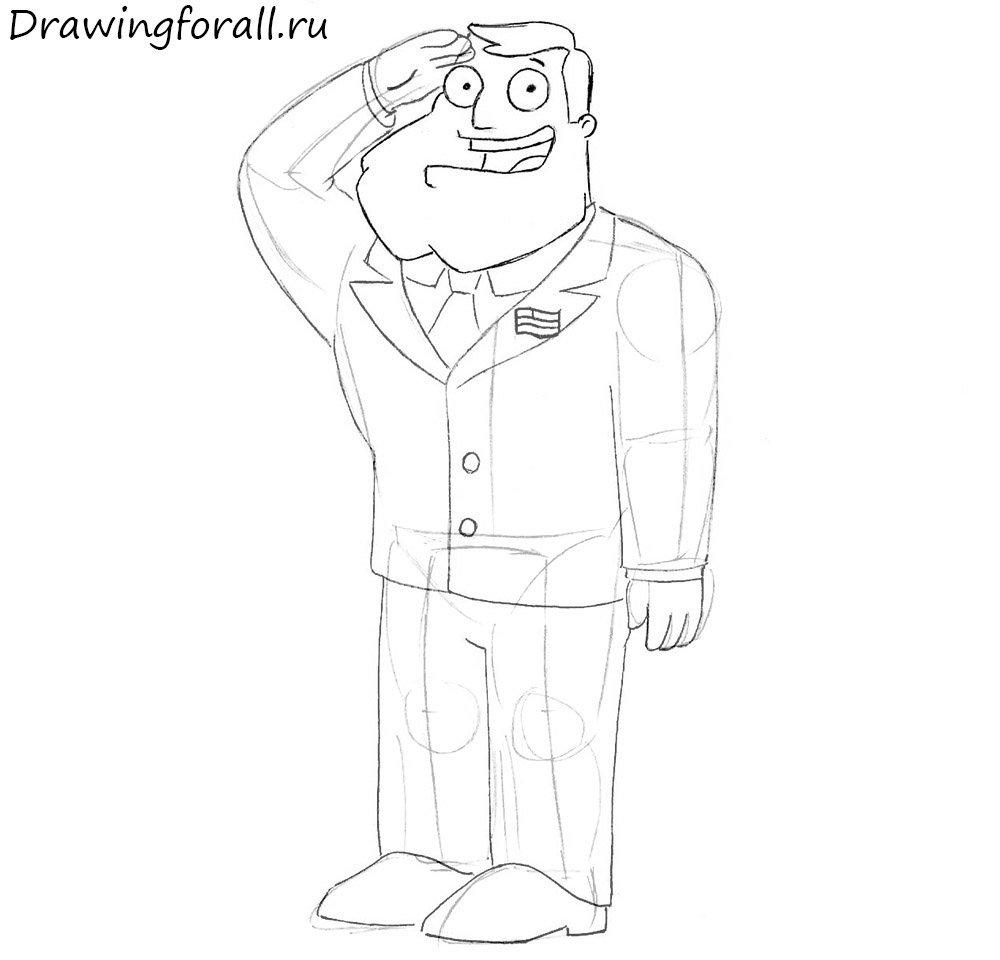 Как нарисовать мультипликационного героя