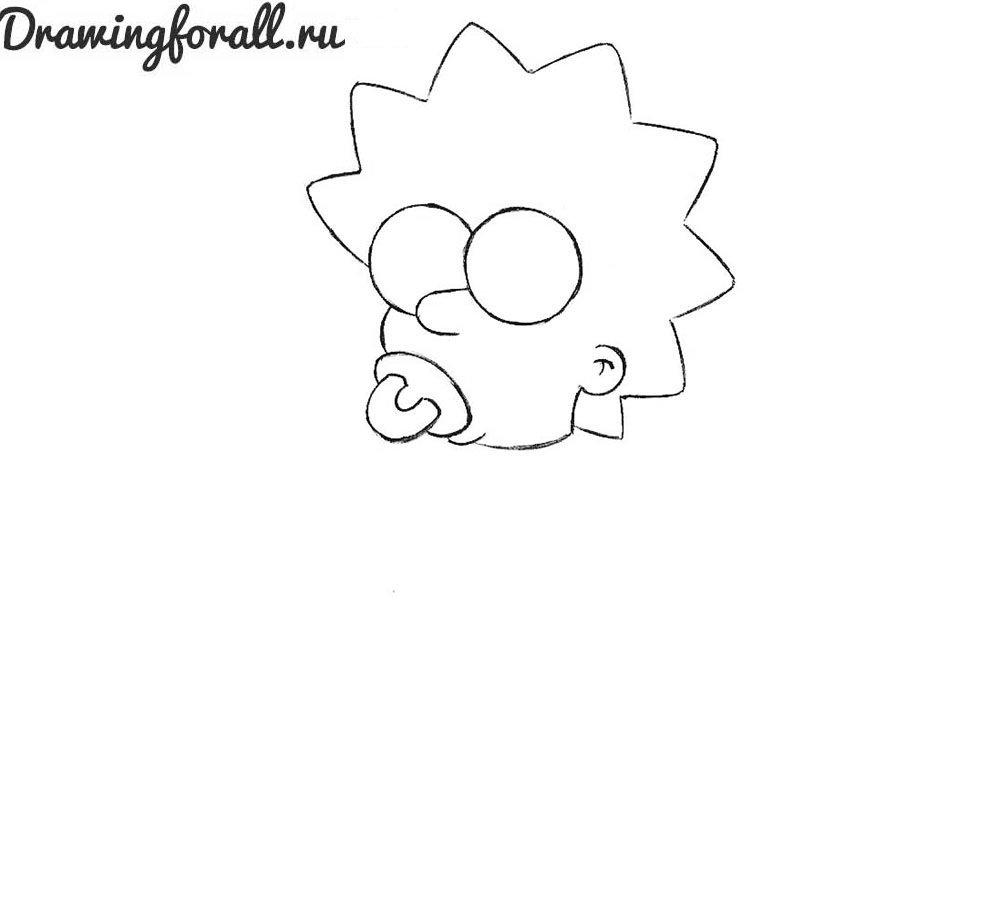 Как нарисовать симпсонов карандашом