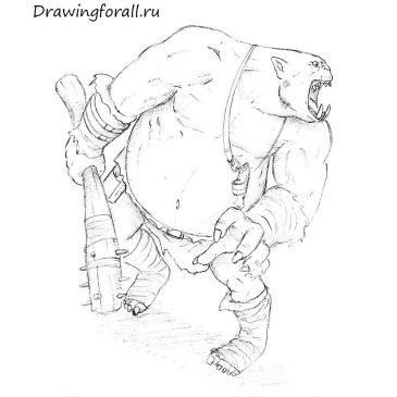 Как нарисовать людоеда-огра