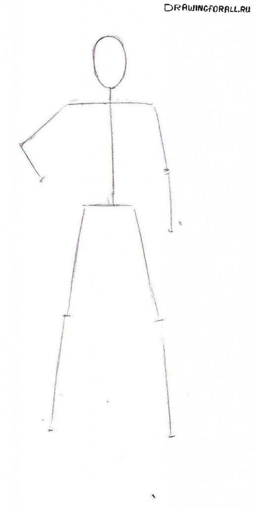 Как нарисовать Магнето поэтапно