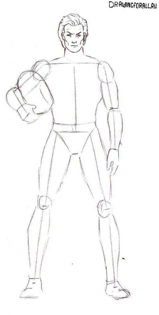 Как нарисовать Магнето поэтапно карандашом