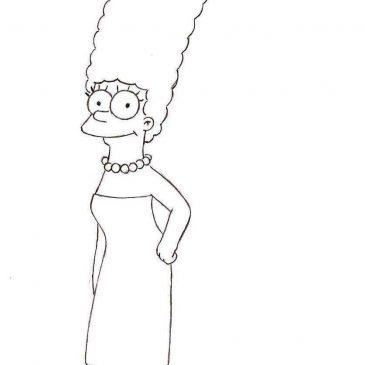 Как нарисовать Мардж Симпсон