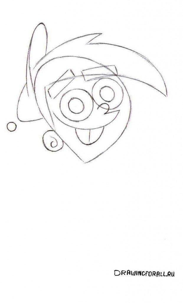 Как нарисовать Тимми Тёрнера для детей