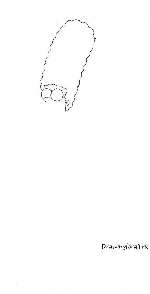 Нарисованная Мардж Симпсон