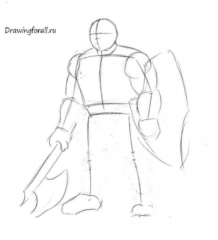 Как нарисовать дварфа шаг за шагом
