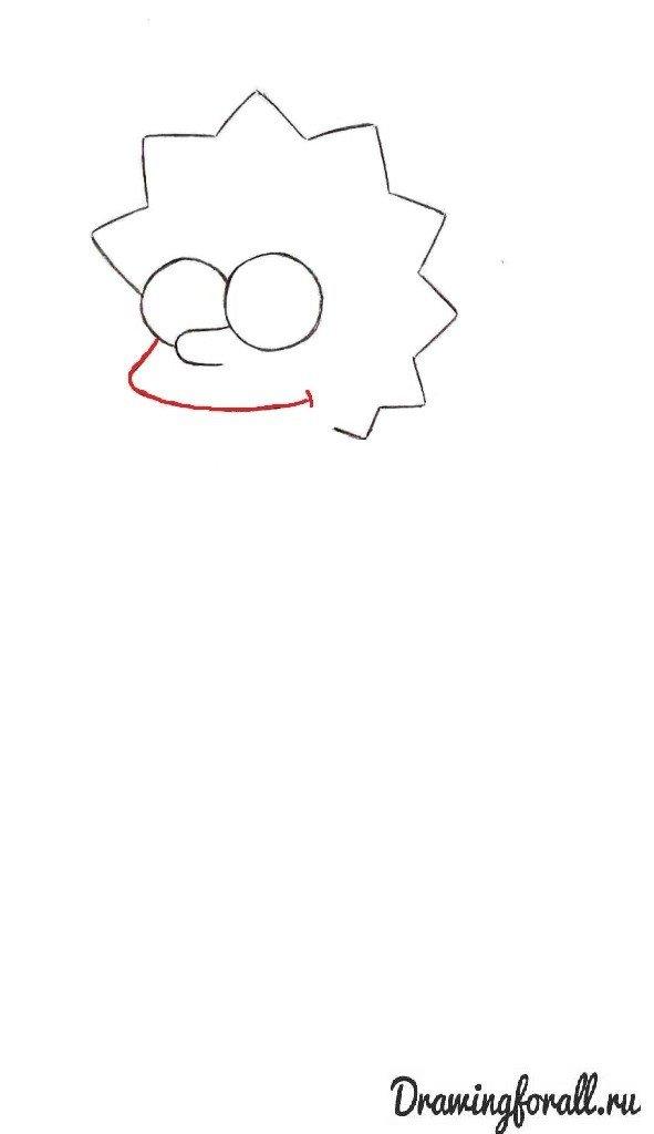 Как нарисовать Лизу Симпсон