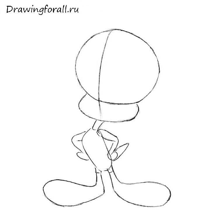 Как нарисовать Твити для детей