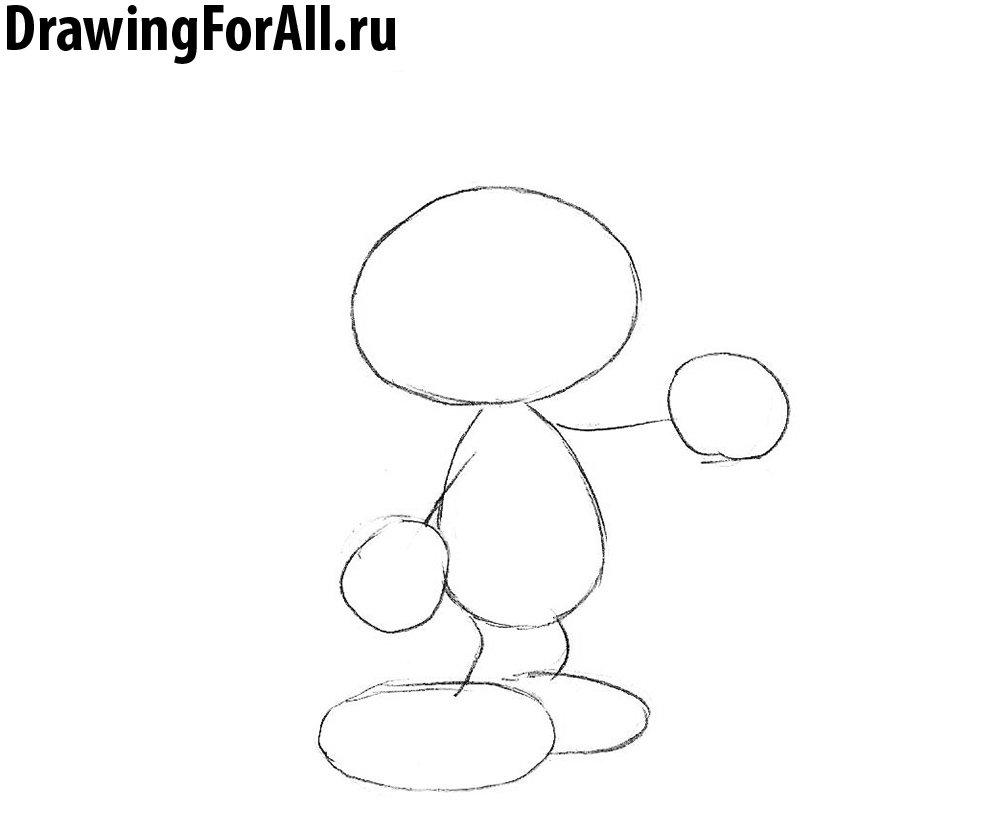 как нарисовать смурфа