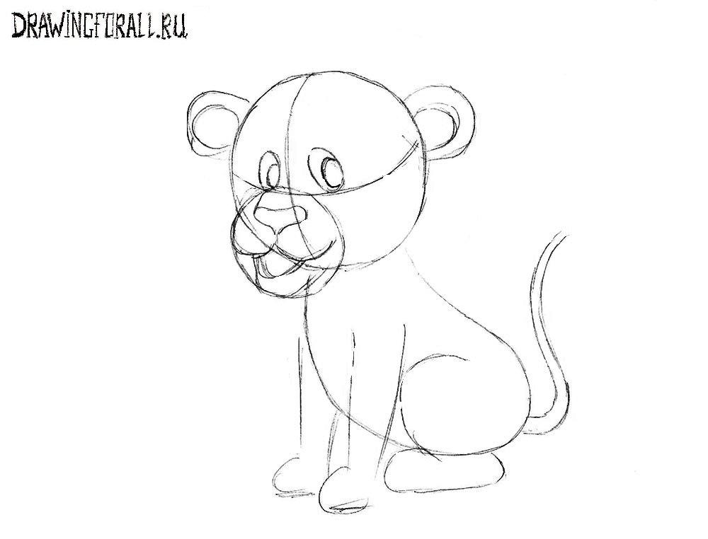 Как нарисовать льва шаг за шагом