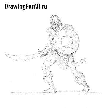 Как нарисовать зомби — воина
