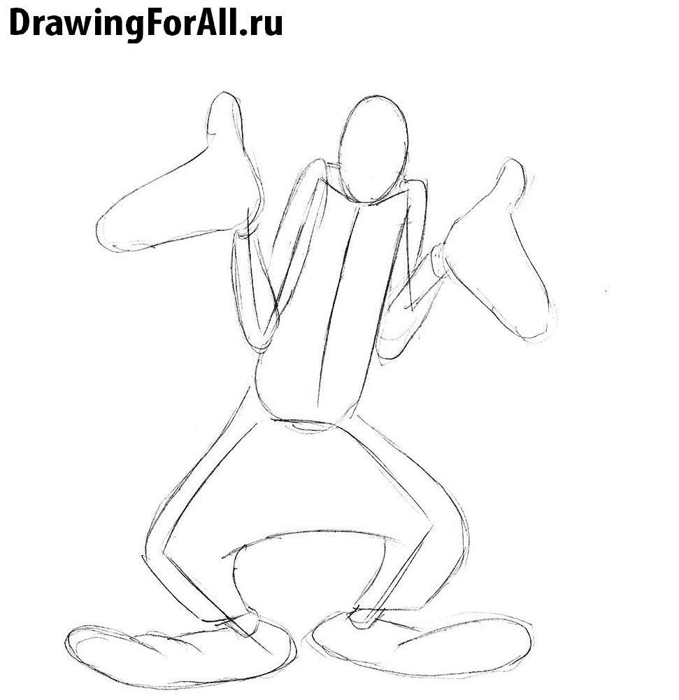 Как нарисовать Гуфи
