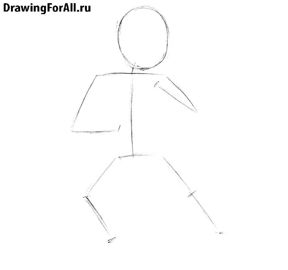 Как нарисовать Саб-Зиро поэтапно для детей
