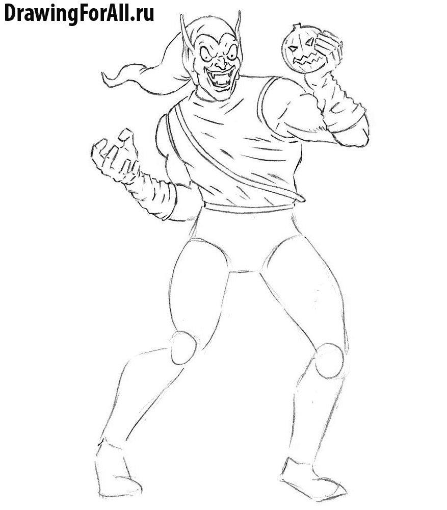 Как нарисовать злодея из комиксов