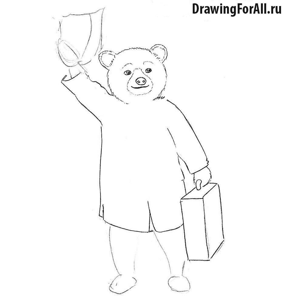 Как легко нарисовать мишку Паддингтона