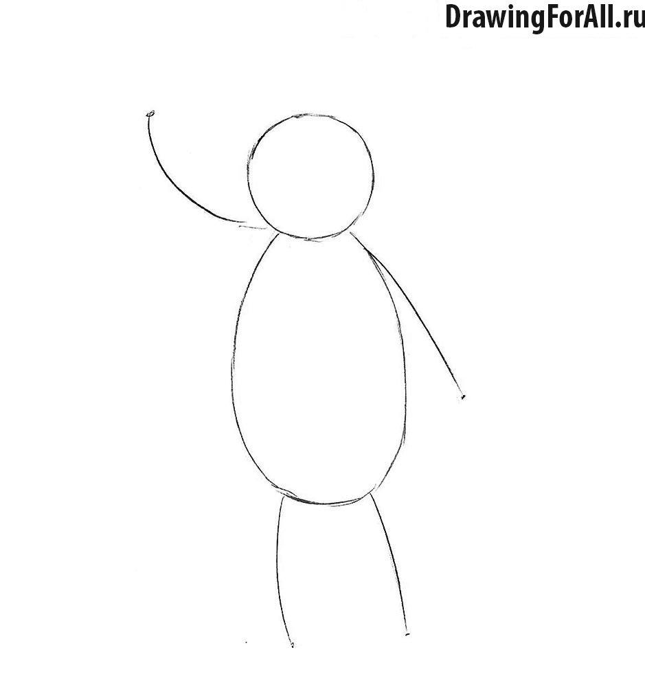 Как нарисовать медвежонка из мультфильма
