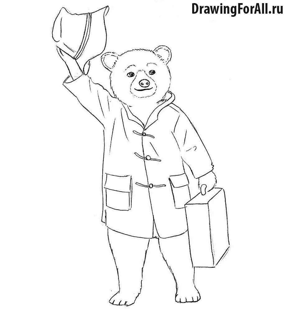Как нарисовать Мишку Паддингтона