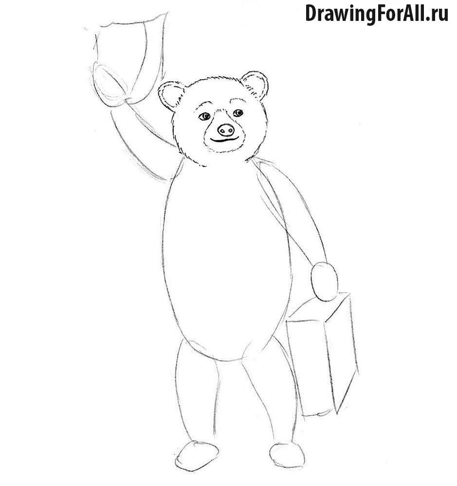 Как нарисовать мишку картинки