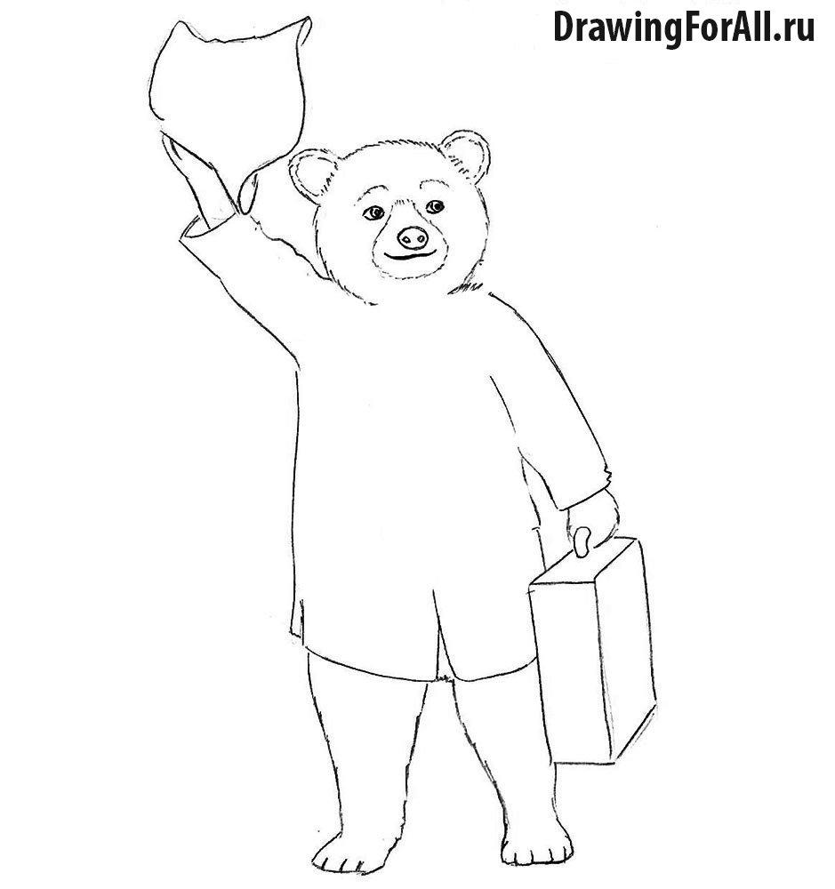 Как нарисовать мишку Паддингтона для начинающих