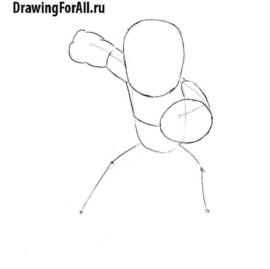 Урок рисования Мегамена - набросок фигуры