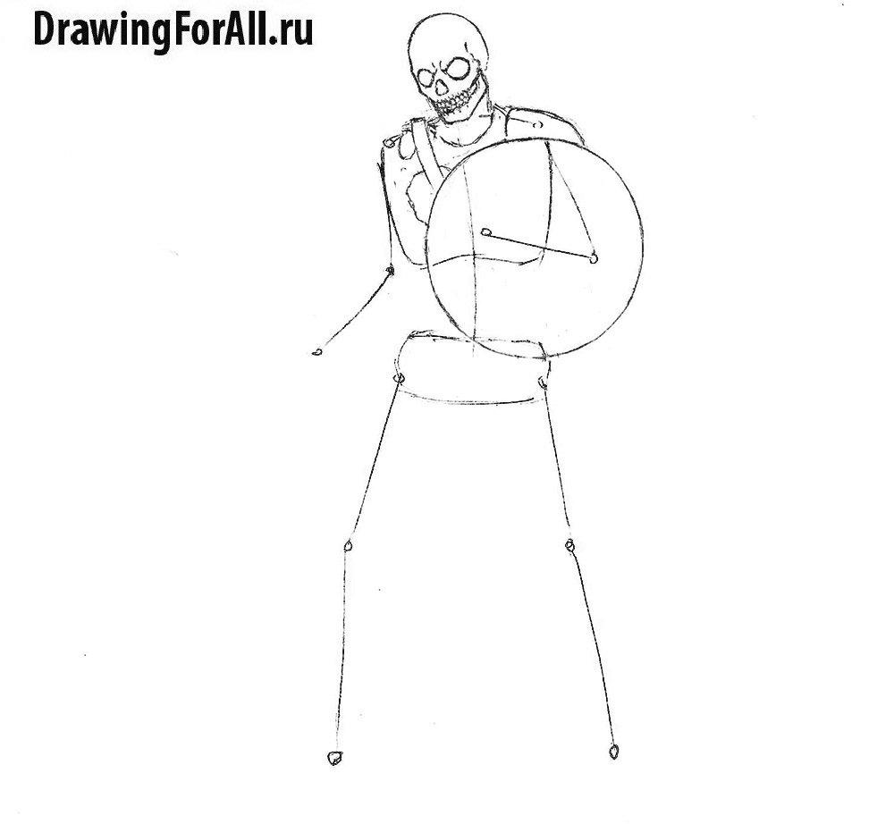 Урок рисования нежити - рисование туловища