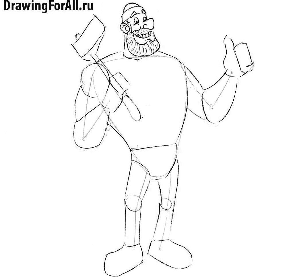 Рисуем бороду великана