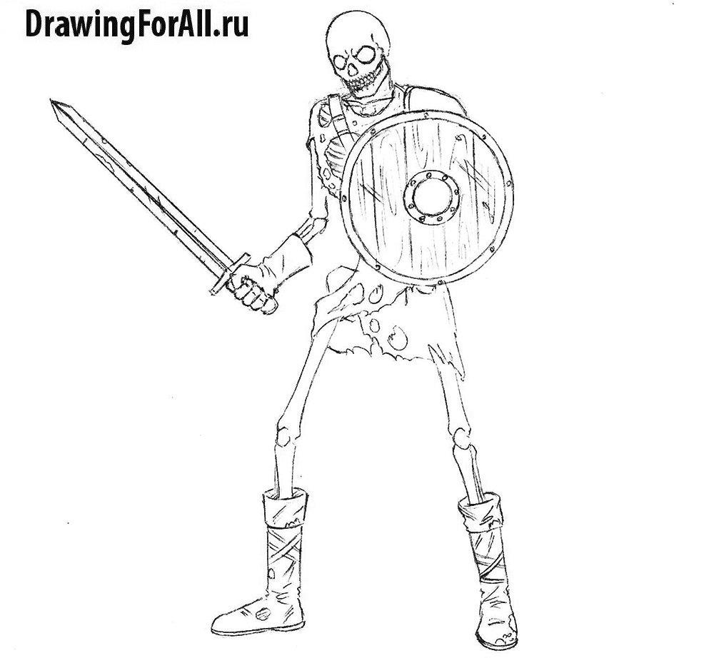 Рисуем воина-нежить - детали