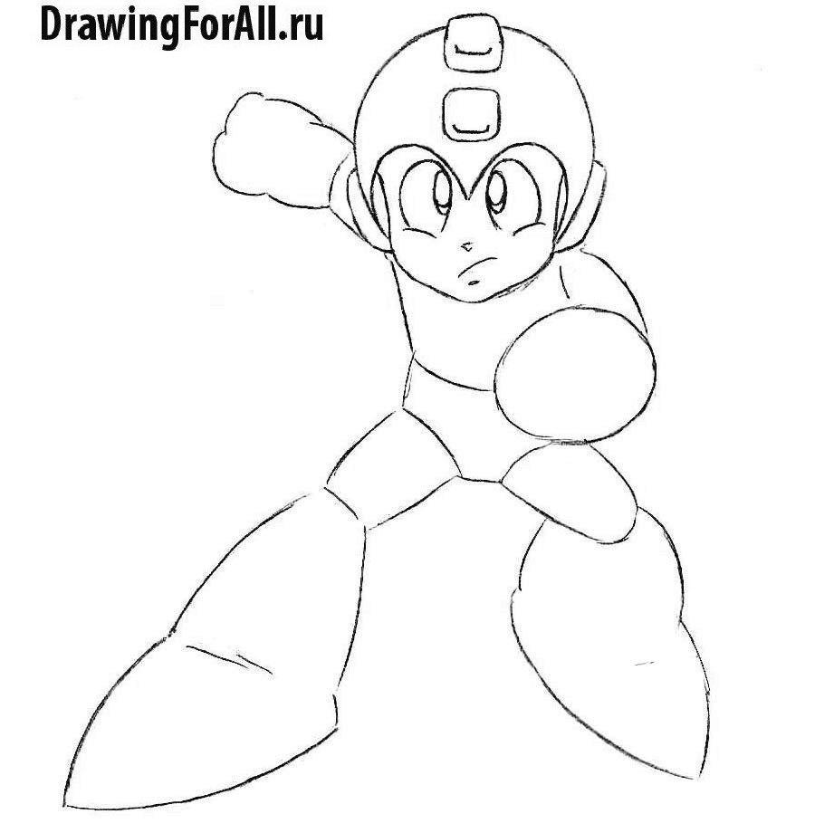 Как нарисовать Мегамена - детализация лица