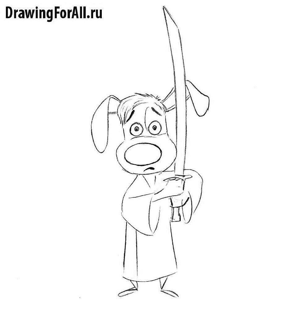 Нарисованный Хэнк Сверкающий Самурай