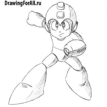 Как нарисовать Мегамена