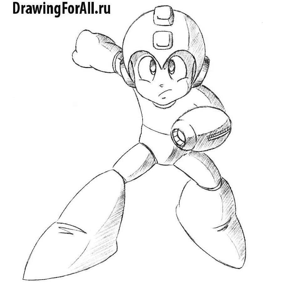Как нарисовать аниме Мегамена