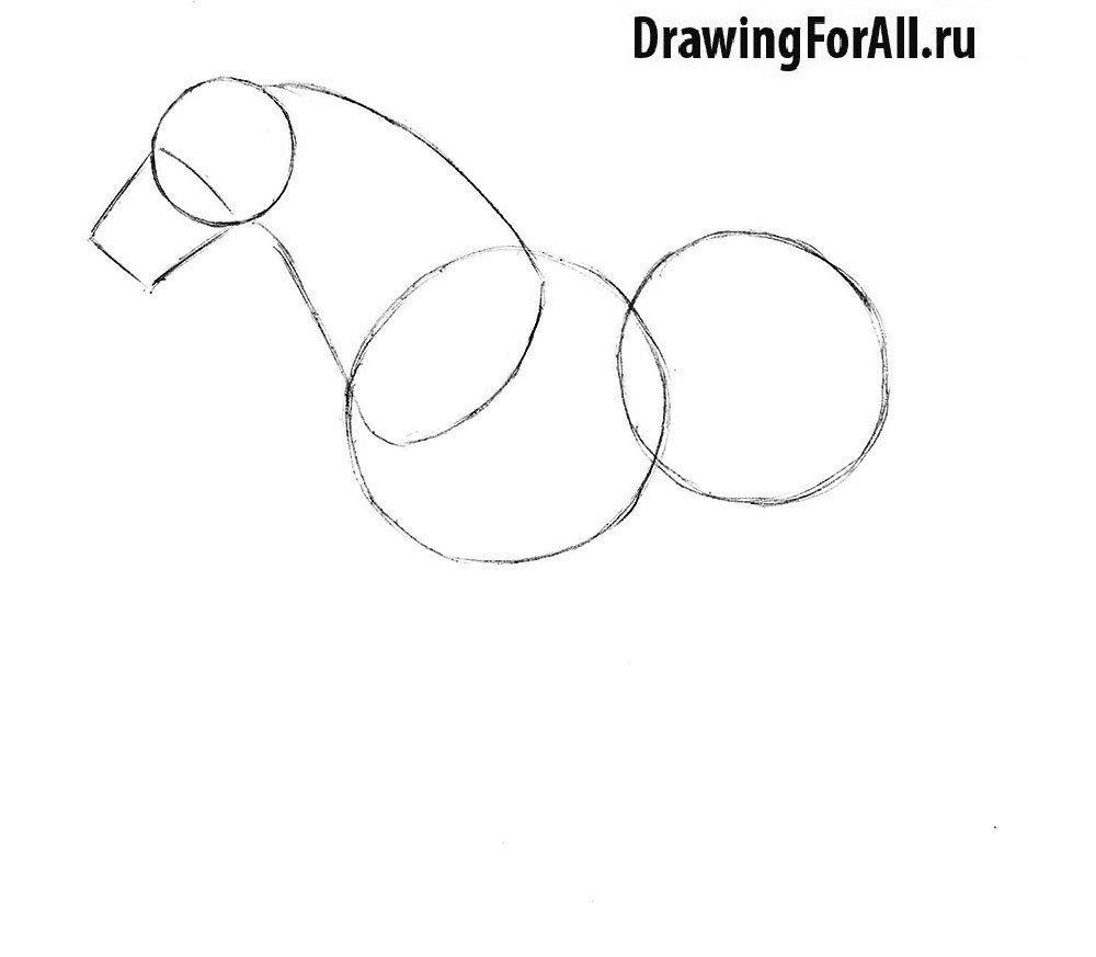 Как нарисовать лошадь для детей поэтапно