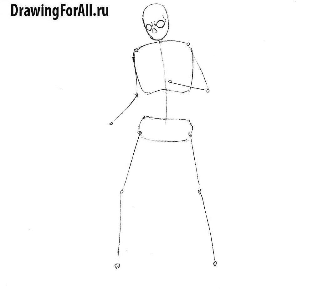 Как нарисовать нежить поэтапно
