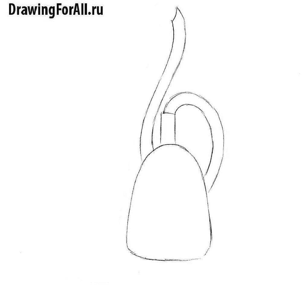 Урок рисования пылесоса - корпус и шланг