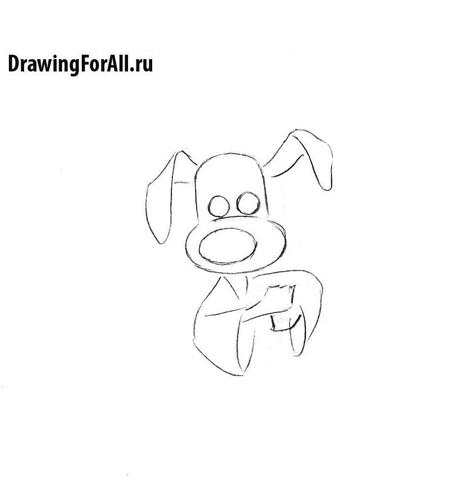 Как нарисовать пса самурая