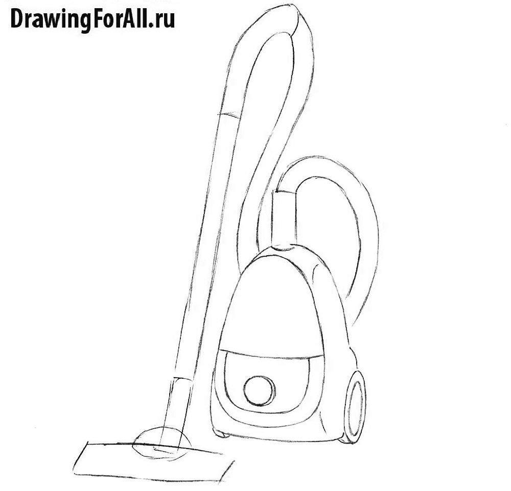 Урок рисования пылесоса - детализация