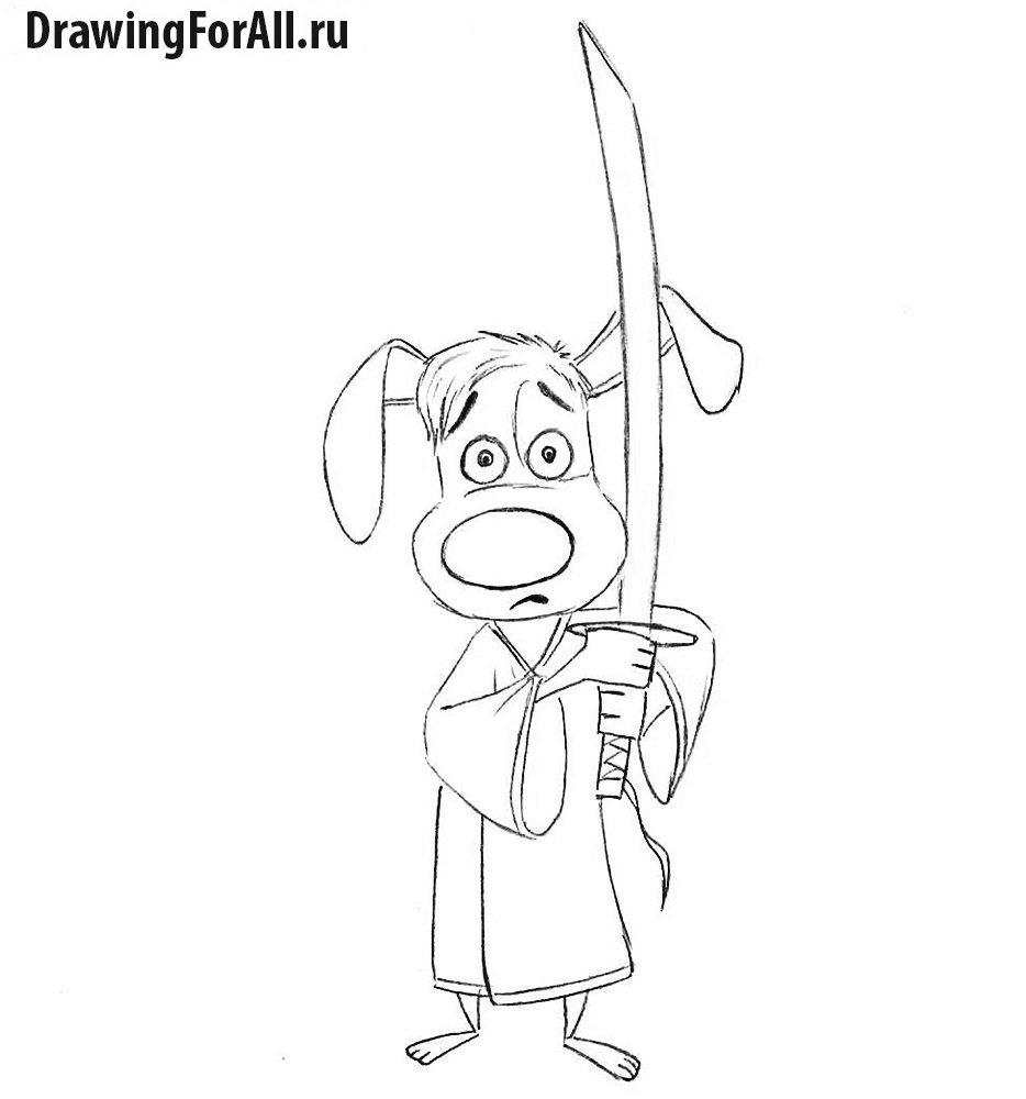 Как нарисовать сверкающего самурая