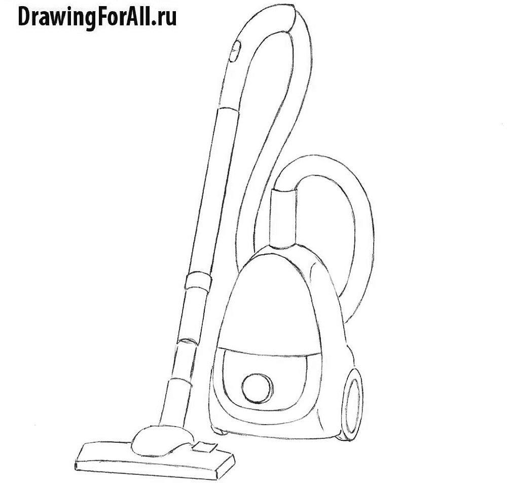 Урок рисования пылесоса - детализация перед финишем