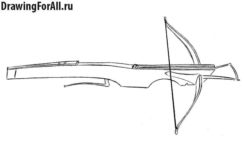 Как нарисовать арбалет - шаг 6