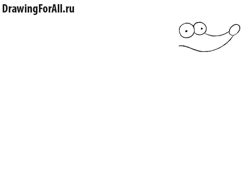 Как нарисовать пса Симпсонов карандашом
