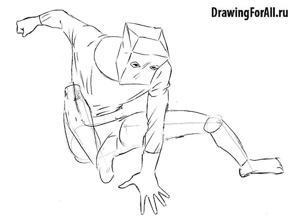 Как нарисовать Питера Паркера в маске
