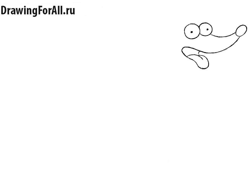 Как нарисовать пса Симпсонов