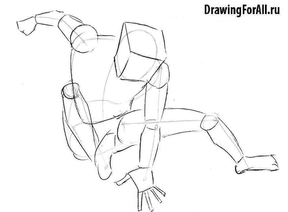 Урок рисования героя комиксов Человека-Пакета
