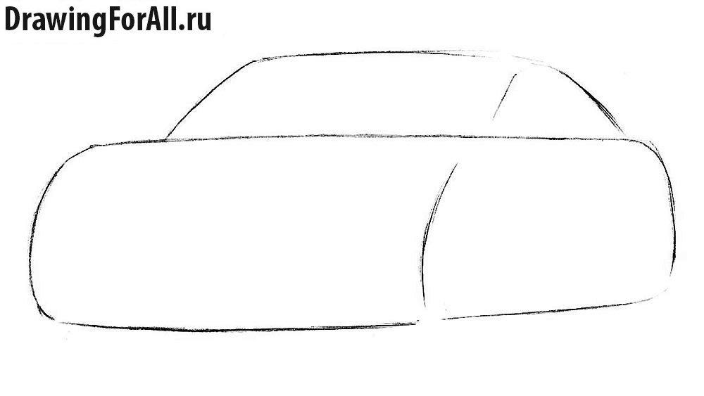 как нарисовать машину бентли