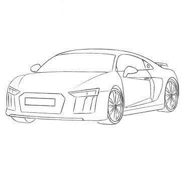 Как нарисовать машину Ауди Р8
