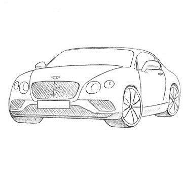 Как нарисовать автомобиль Бентли