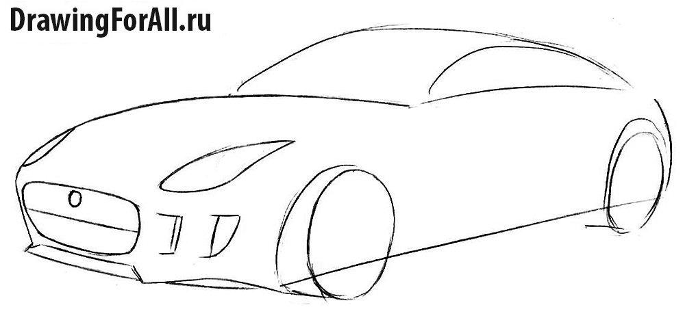 Как нарисовать автомобиль шаг за шагом