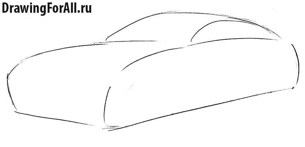 Как нарисовать автомобиль Ягуар