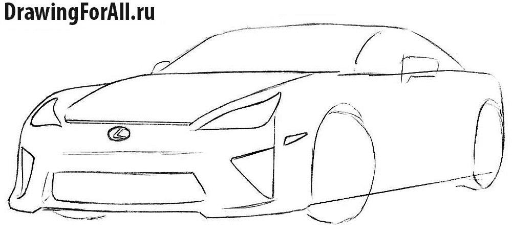 Как нарисовать автомобиль Лексус