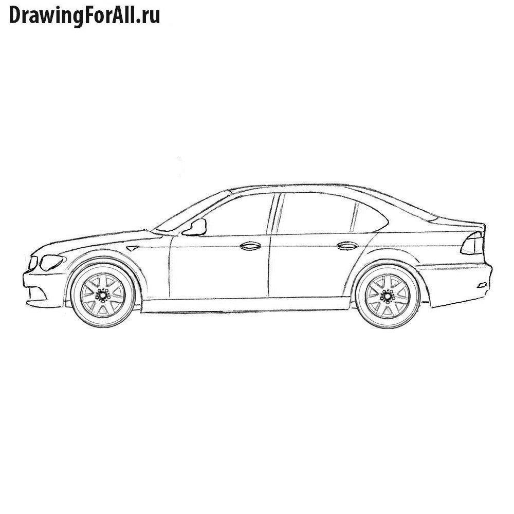 Как нарисовать БМВ