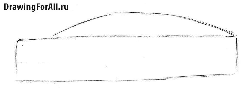 Как нарисовать Ламборджини карандашом